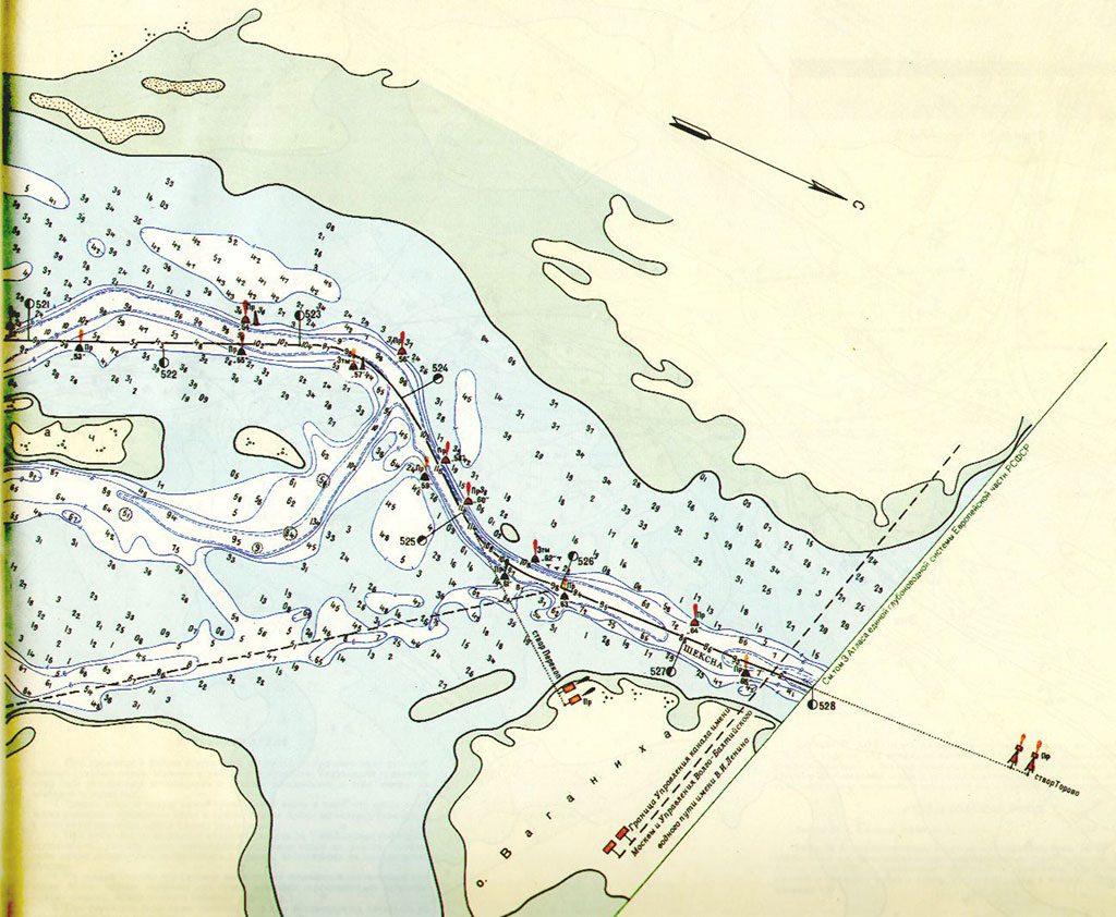 Схема рыбинского водохранилища до затопления