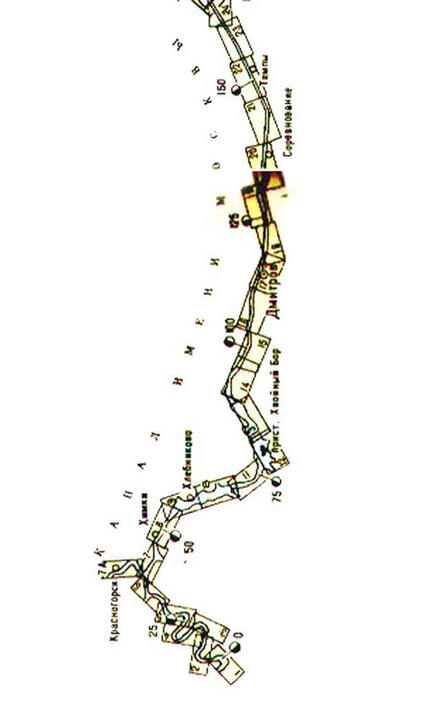 Карта Канала Имени Москвы