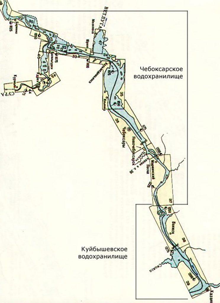 Чебоксарское водохранилище, Куйбышевское водохранилище