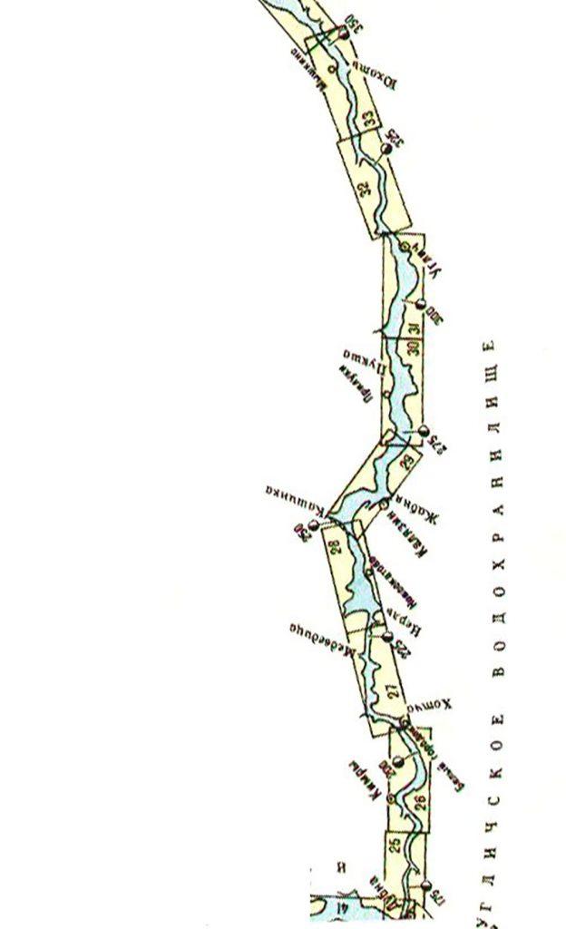 Карта Угличского водохранилища